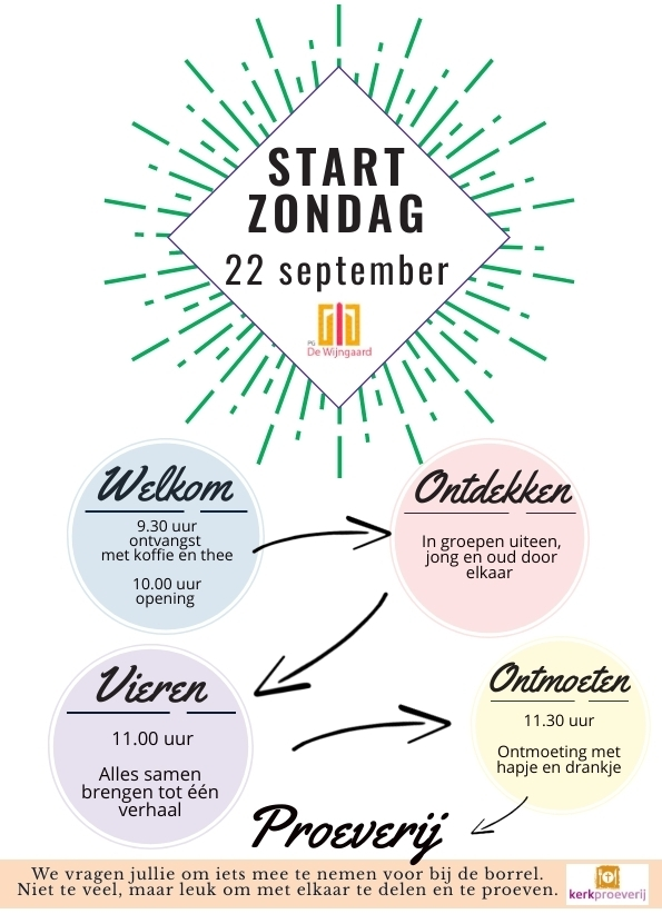 STARTZONDAG - 22 SEPTEMBER